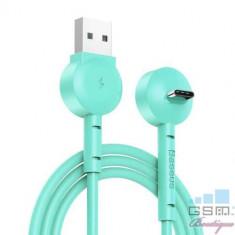 Cablu Date Si Incarcare USB Type C Samsung Huawei Allview Cu Suport Telefon BASEUS Verde
