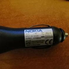 Incarcator auto Nokia mufa subtire ORIGINAL