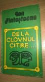 Ion Fintesteanu - De la clovnul citire... (Editura Sport-Turism, 1982)