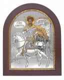 Cumpara ieftin Sfantul Dumitru Foita Argint 925 190x156mm Cod Produs 1397