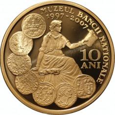 Medalie aniversara Tombac 10 ani de la înființarea Muzeului BNR - 2007