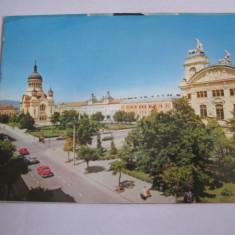 Carte postala - Cluj Napoca (Piata Victoriei), Circulata, Fotografie