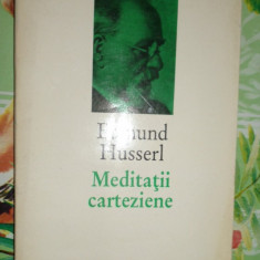 Meditatii carteziene 247pagini- Edmund Husserl