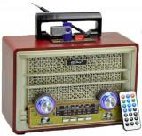 Radio portabil retro Vintage, Boxa Bluetooth, MP3, AUX, Radio, intrare Karaoke