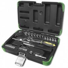 Trusa de chei tubulare JBM 53107, spline, 1/4, 36 buc, 4-13mm, antrenor cu clichet