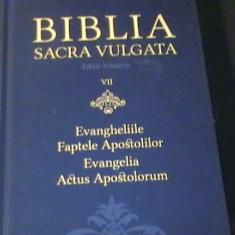 BIBLIA SACRA VULGATA- VOL8-EVANGHELIILE-FAPTELE APOSTILILOR-668 PG A 4-