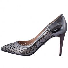 Pantofi dama, din piele naturala, marca Conhpol, PFCB-5958SSS-17-40, bronz 40