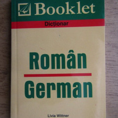 DICTIONAR ROMAN GERMAN - LIVIA WITTNER
