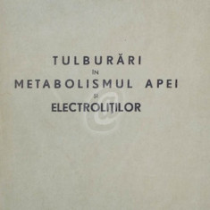 Tulburari in metabolismul apei si electrolitilor