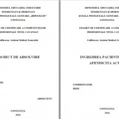 LUCRARE DE LICENTA AMG – INGRIJIREA PACIENTILOR  CU APENDICITA ACUTA (1)