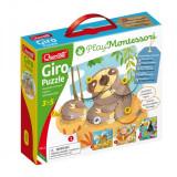 Giro Puzzle Montessori Quercetti, 40 piese, 3 ani+