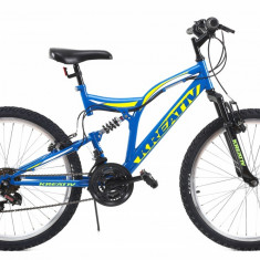Bicicleta Copii Kreativ 2441 Albastru Deschis 24