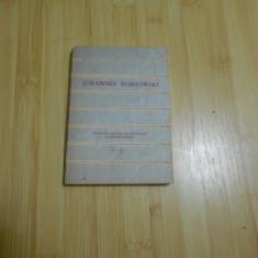 JOHANNES BOBROWSKI--POEME - 1974 - CU DEDICATIE