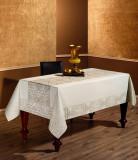 Față de masă Valentini Bianco, Model Linen, 150x220cm