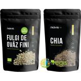 Fulgi De Ovaz Fini Fara Gluten Ecologici/Bio 250g + Seminte De Chia Ecologice/Bio 125g