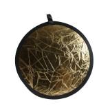 Blenda reflectoare 2in1 silver gold 56cm, Life Of Photo