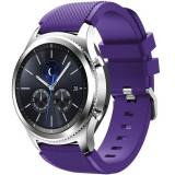 Cumpara ieftin Curea ceas Smartwatch Samsung Gear S3, iUni 22 mm Silicon Purple
