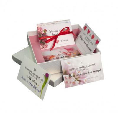 52 Motive Ești Cea Mai Bună Mamă, mesaje-cupon, diverse modele pentru cutii, cadou mama, multicolor foto