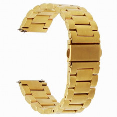 Curea metalica compatibila Huawei Watch GT, telescoape Quick Release, 22mm, Gold