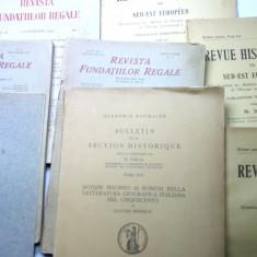 lot de 8 carte veche anii 30 revista fundatiilor regale istorie etc
