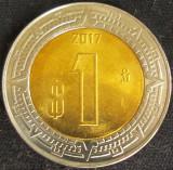 Cumpara ieftin Moneda bimetal 1 NUEVO PESO - MEXIC, anul 2017 *cod 976 = UNC din set numismatic, America Centrala si de Sud