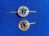 Insigne militare - Insigne România - Semne de armă - Chimic (culoare argintie)