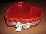 Cos în forma de inima din rachita artificiala eco cadou Valentine nunta, Oshi