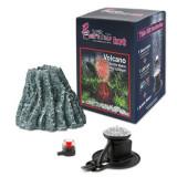 Decor acvariu H2Show Kit cu vulcan și mini-lampă LED roșie