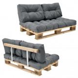 Garnitura completa mobilier paleti Model A - 1 x europalet, 1 x perna sezut, 2...