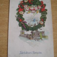 CAB9 - FELICITARE SARBATORI DE IARNA - CIRCULATA IN ANUL 1928