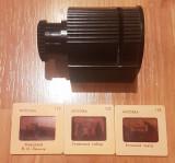 Filmoscop (diascop) si 3 diapozitive din URSS. Vintage