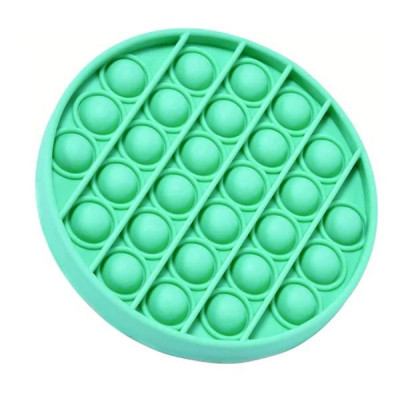 Jucarie antistres, Pop it, silicon, 13 cm, verde foto