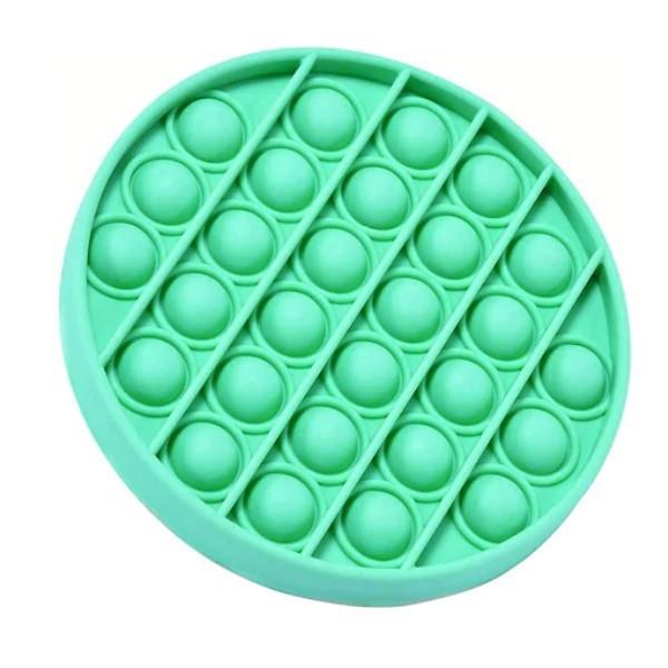 Jucarie antistres, Pop it, silicon, 13 cm, verde