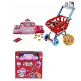 Casa de marcat si cos cumparaturi cu accesorii Hello Kitty GB33
