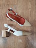 Superbi pantofi dama noi piele naturala lacuita foarte comozi 36