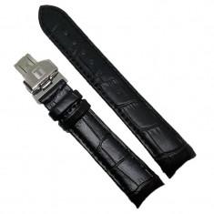 Curea Ceas Piele Naturala Neagra TISSOT 1853 Capete Curbate 18mm 20mm 24mm WZ1955