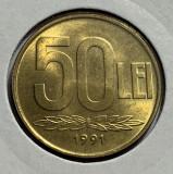 50 Lei 1991 Romania UNC, Luciu de batere