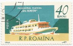 România, LP 517/1961, Marina, 40 bani, eroare, oblit. foto