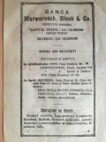 reclama Banca Marmorosch, Blank & Co,  16 x 23 cm, sucursale Cernauti, Ismail
