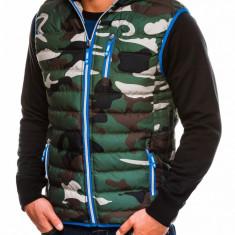 Vesta pentru barbati, camuflaj, stil militar, army - V24-verde