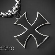 Amuleta Pandantiv Cruce Malteză Crucea de Fier INOX - cod PND073