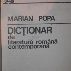 DICTIONAR DE LITERATURA ROMANA CONTEMPORANA - MARIAN POPA