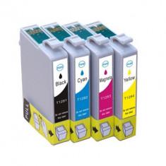 Set 4 cartuse imprimanta Epson T1281/T1282/T1283/T1284 compatibile, Multicolor, Original