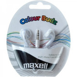Casti Maxell In-Ear Colour Budz, albe