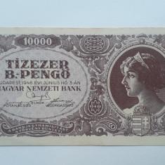 10000 B-Pengo 1946 Ungaria bancnota penghei Tizezer B.-pengo