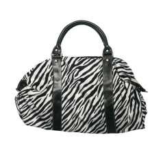 Geanta dama A11783 Lamonza, imprimeu zebra