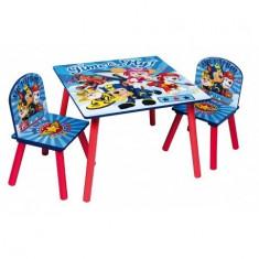 Set masuta si 2 scaunele Blue Paw Patrol