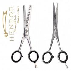 """Set Foarfeca de tuns 6"""" filat 5.5"""" Henbor ITALIA Top Line frizerie coafor"""