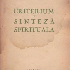CRITERIUM DE SINTEZA SPIRITUALA - GEORGE DULCU