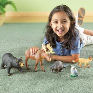 Set 5 figurine Animalute din padure Learning Resources, 18 luni+